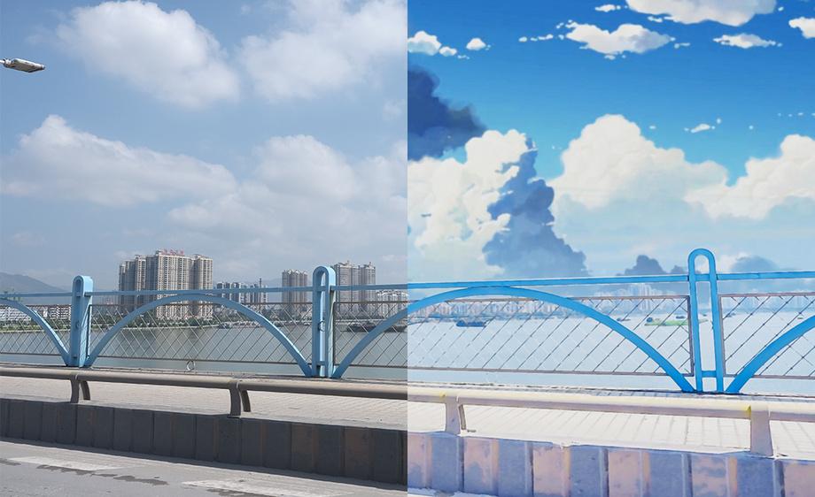 ps平面素材桥