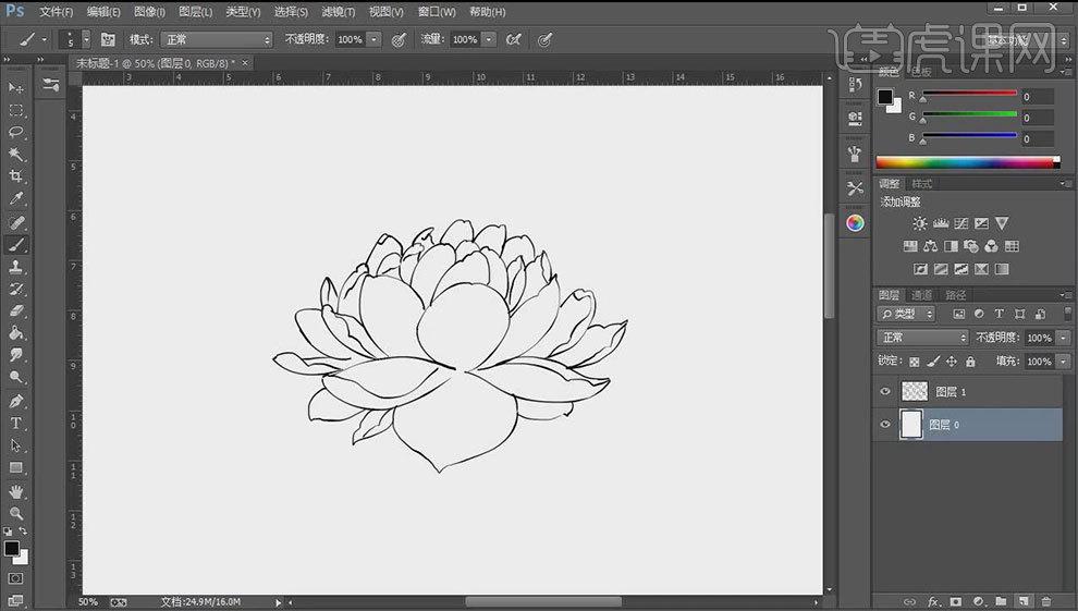 ps-板绘-拟风格水彩莲花计算机学徒平面六合无绝对片