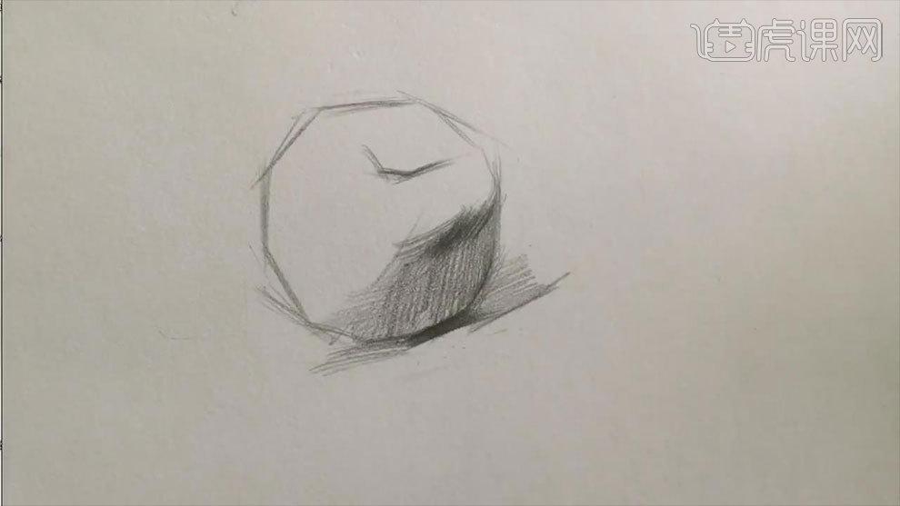 铅笔素描-苹果的明暗调子图片