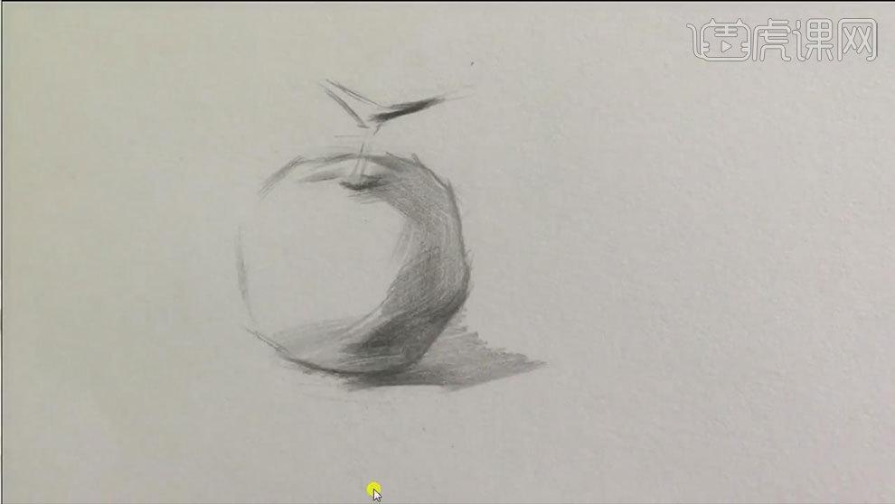 铅笔素描-静物橘子的结构及明暗