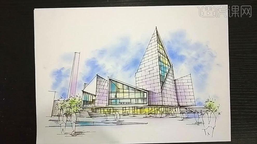 马克笔手绘-现代主义建筑写生(上色篇)