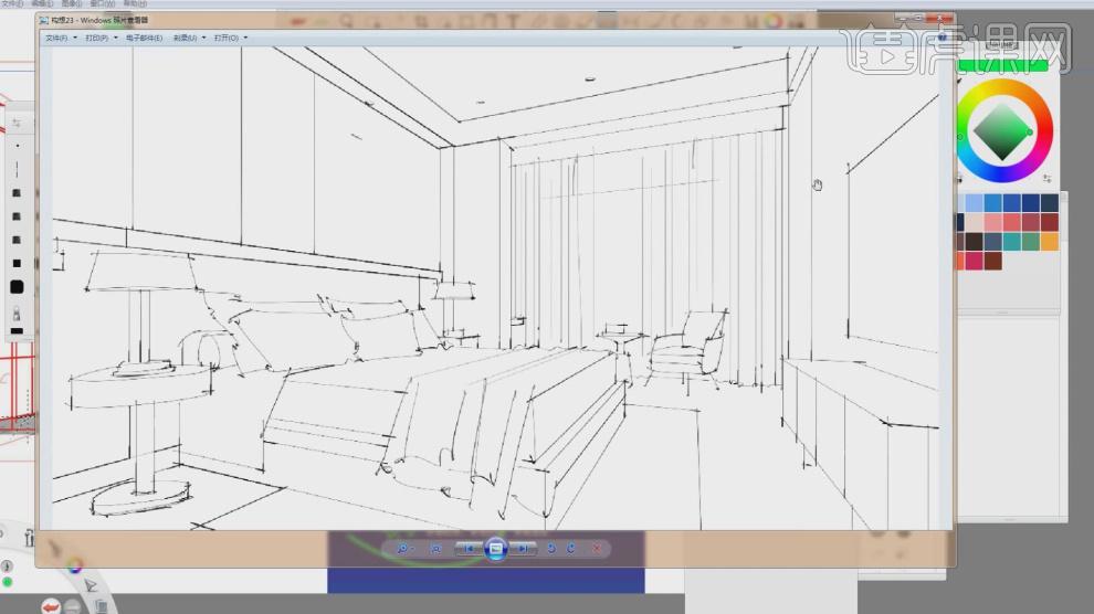 skb-室内设计电脑手绘提升班04视频教程_室内设计-虎