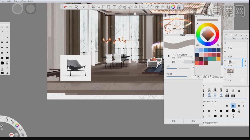 skb-室内设计电脑手绘基础班03视频教程_室内设计-虎