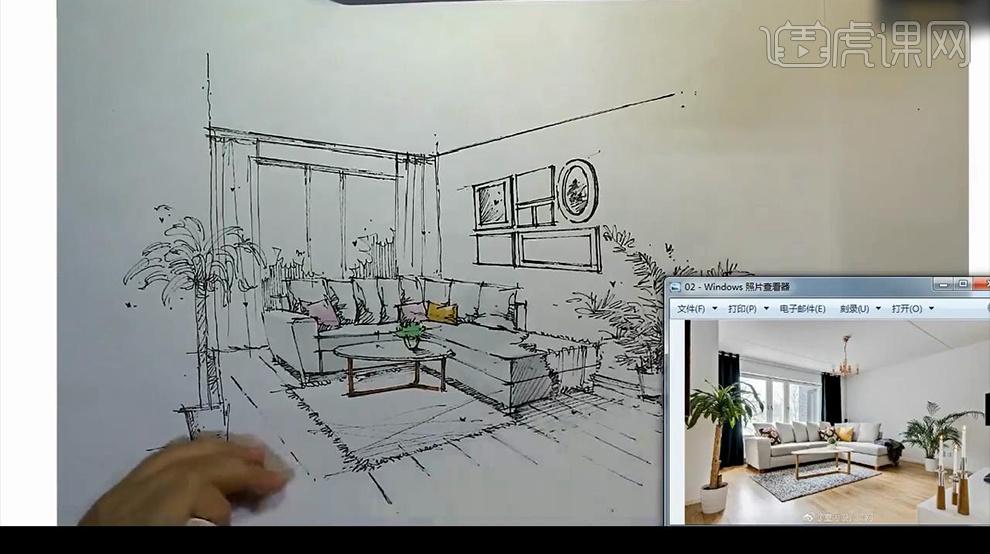 桌子设计图纸手绘