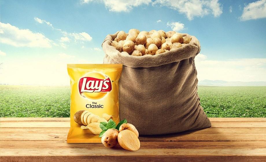 ps-薯片创意合成广告海报