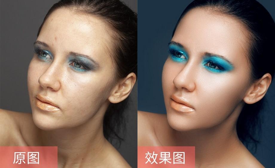 ps-彩妆女模特精修教程