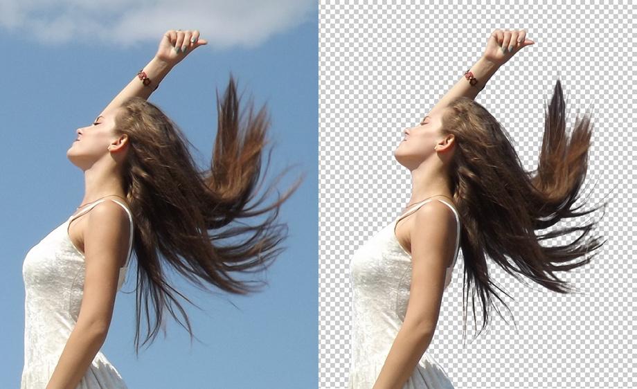 PS如何抠头发-调整边缘抠出人物头发