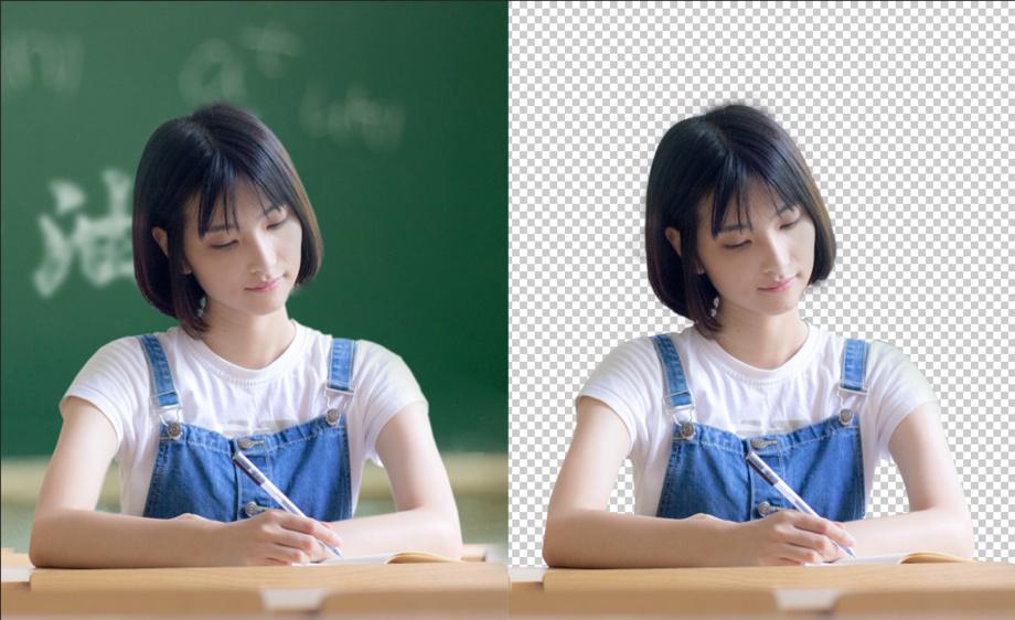 PS-文雅学生抠图