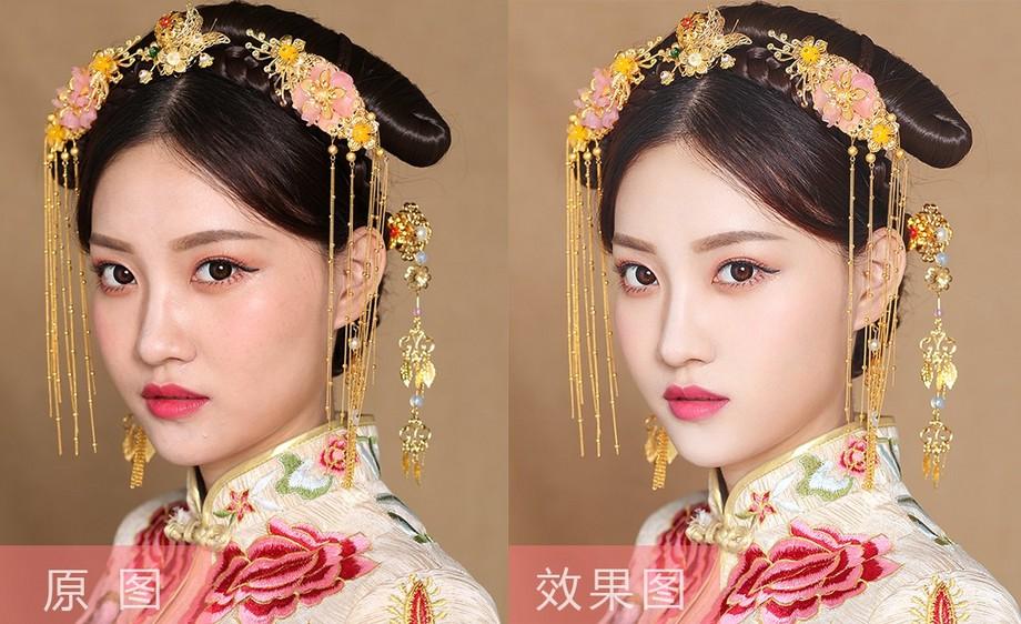 PS-中国风新娘人像精修