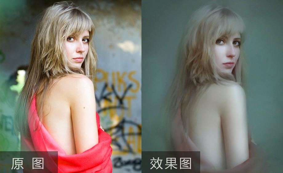 PS+Painter-写真人像厚涂转手绘后期修图