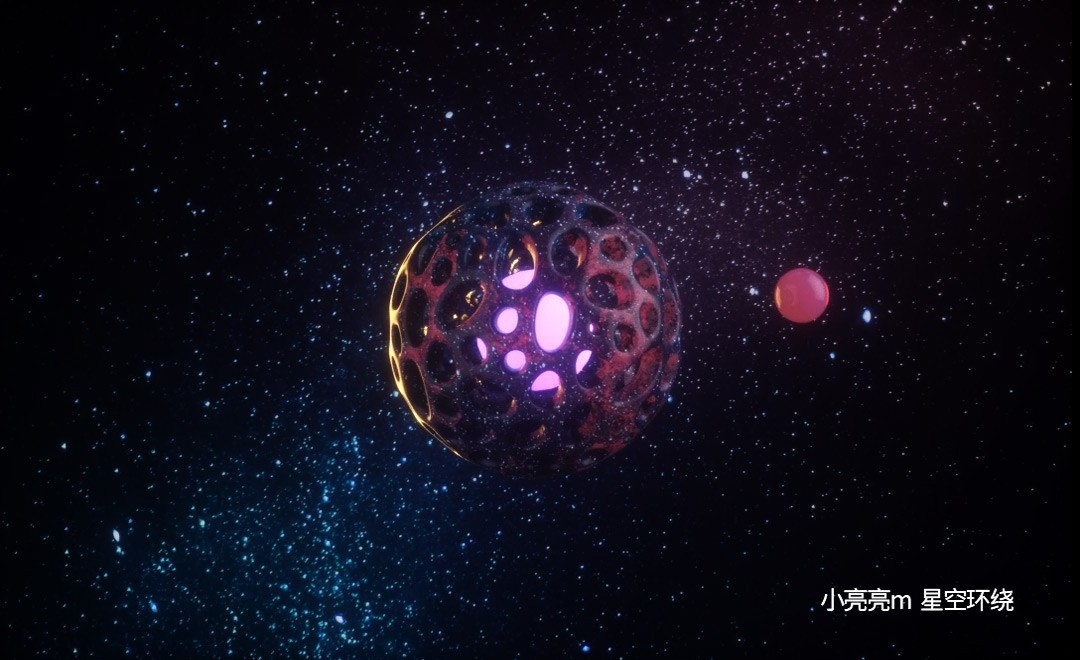 C4D-宇宙星空环绕效果