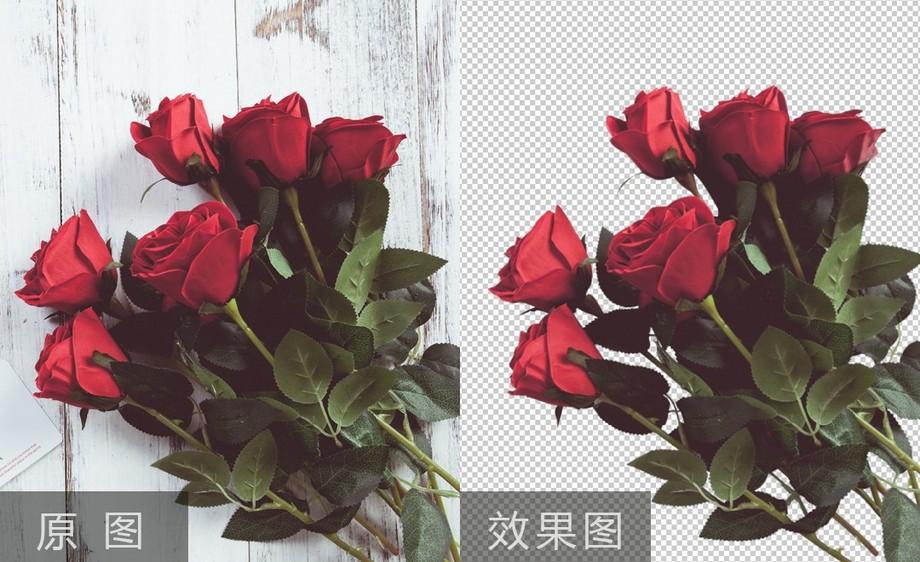PS-玫瑰花抠图