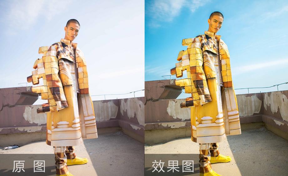 PS-设计款男装模特后期修图