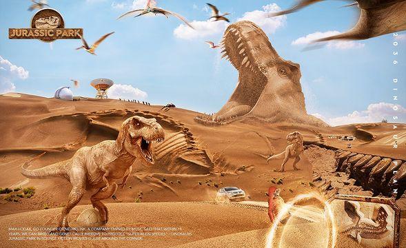 PS-《恐龙复活计划》创意影视海报