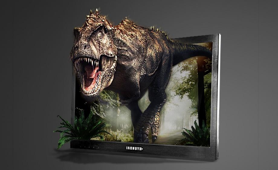 ps-逼真·恐龙冲出显示器