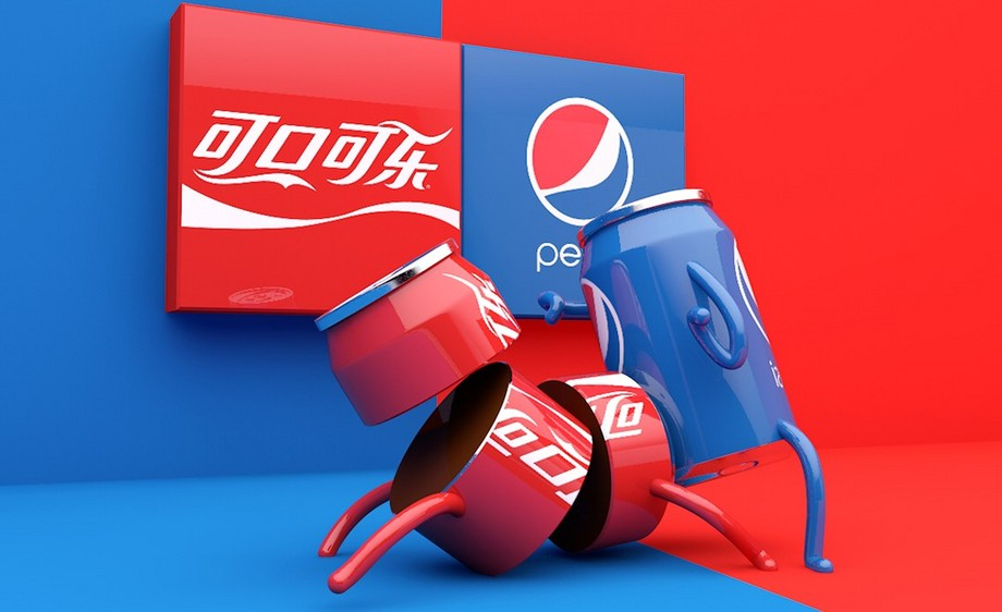 C4D-可乐大战创意设计