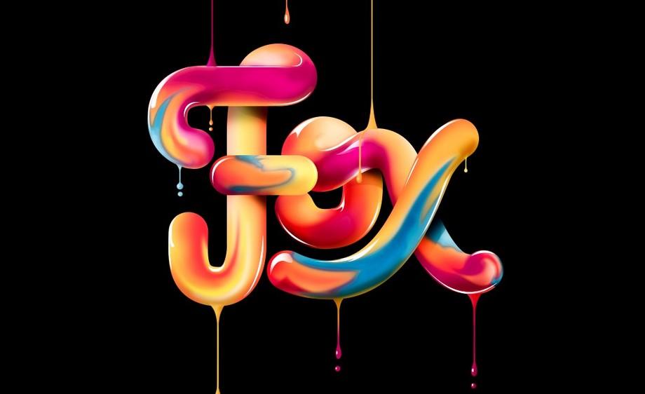AI+PS-糖浆字母设计