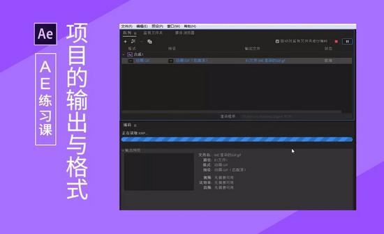 AE-项目的输出与格式
