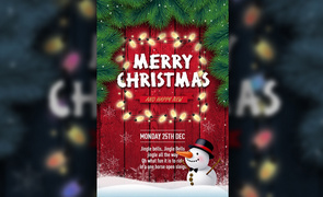 PS-圣诞节排版海报