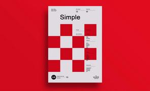 PS-单色系海报设计