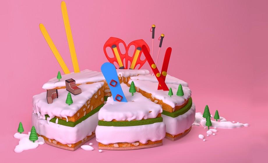 C4D-创意生日蛋糕-上集