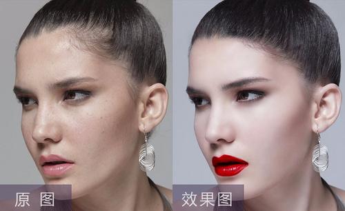 PS-女模特磨皮修肤后期