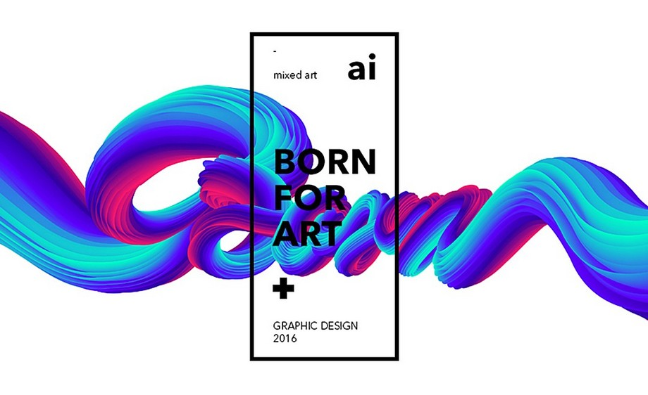 AI-混合工具制作艺术创意海报