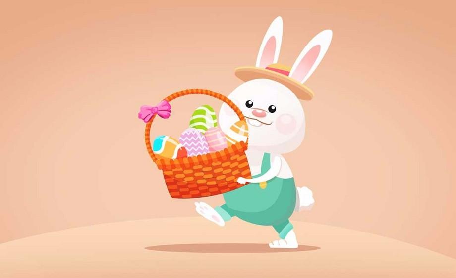 PS-鼠绘插画-儿童插画-复活节小兔子