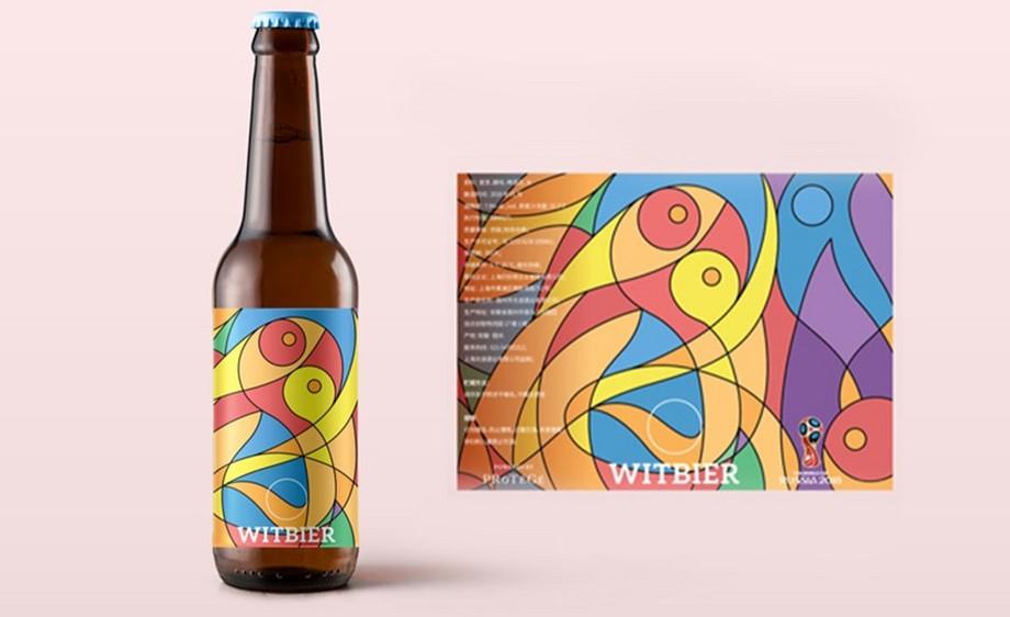 AI-世界杯主题毕加索风格 - 精酿啤酒酒标设计
