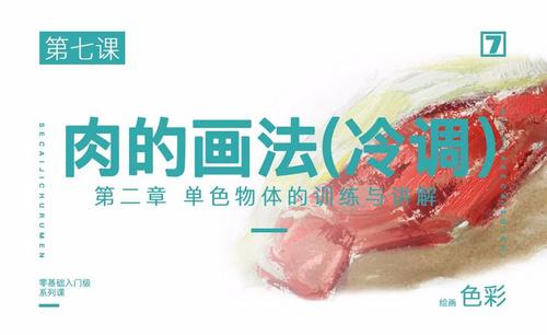 肉类的上色(冷调)-绘画色彩系列教学