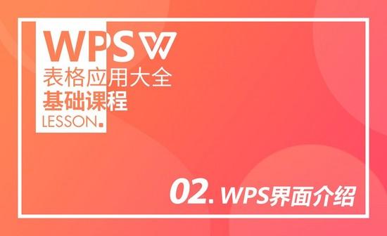 WPS-第二课:WPS界面介绍
