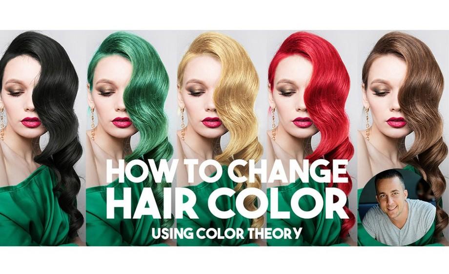 "PS-""云染发""轻松改变头发颜色"
