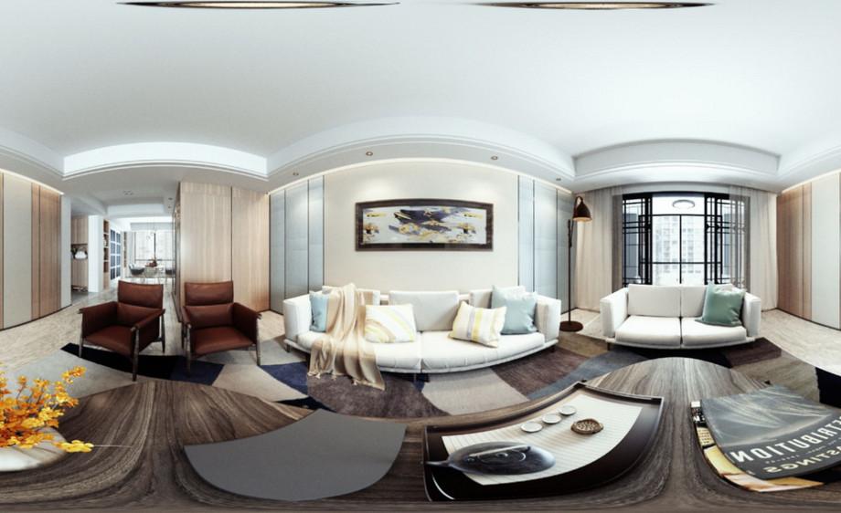 3DMAX+VRAY-客厅室内全景图渲染01