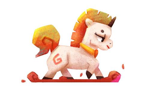 ps手绘-彩虹小马