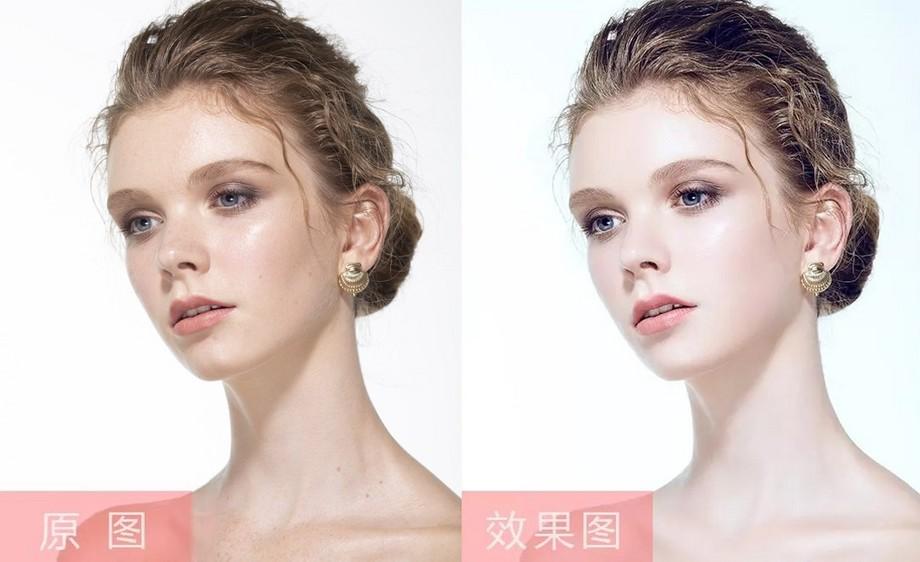 PS-白皙唯美女模人像精修