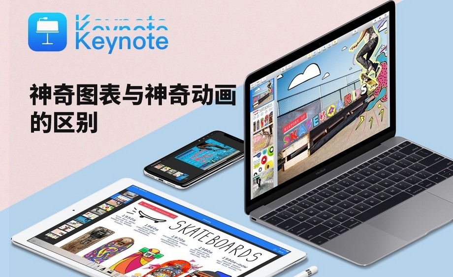 keynote-神奇图表与神奇动画的区别