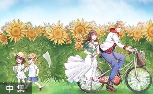 SAI-板绘插画-恋与制作人同人之向日葵田园(线稿篇)