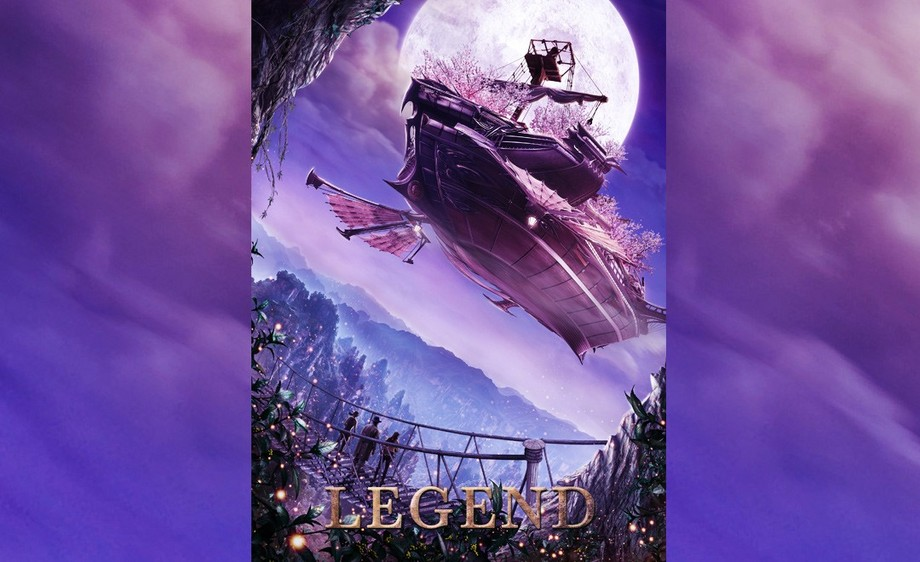 PS-紫色梦幻飞船电影海报设计(上)