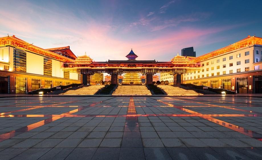 城市夜景延时拍摄—桂林一院两馆