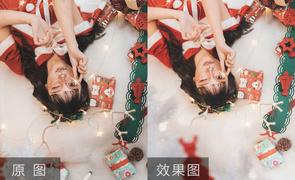 PS+LR-圣诞少女感写真摄影后期教程