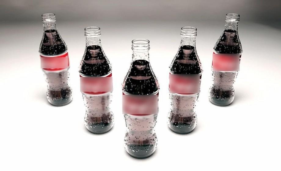 C4D+PS-带水珠可乐瓶制作