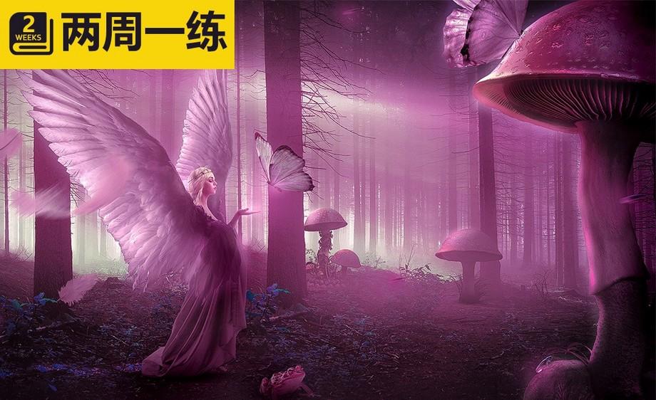 PS-粉色梦幻森林中的天使