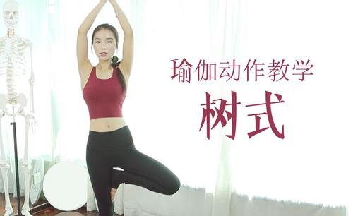 瑜伽动作视频教学-树式