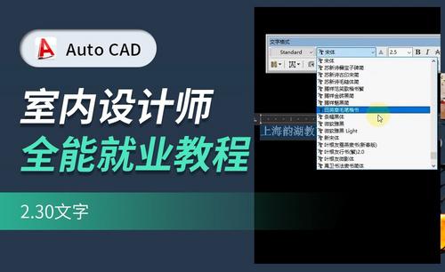 CAD基础教学-文字